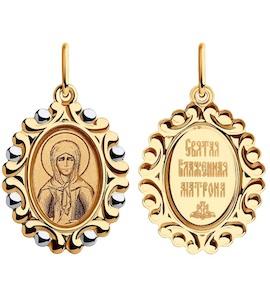 Подвеска из золота с эмалью и лазерной обработкой 104195