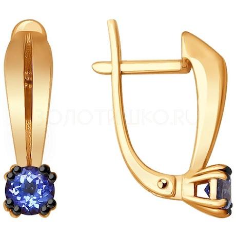 Серьги из золота с танзанитами 6024115