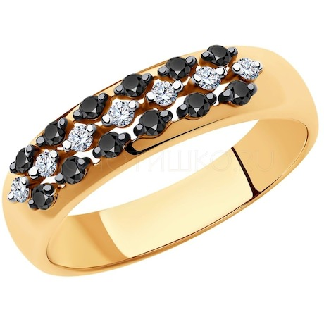 Кольцо из золота с бриллиантами 7010061