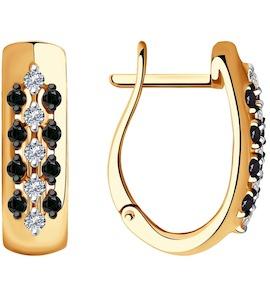Серьги из золота с бриллиантами 7020065
