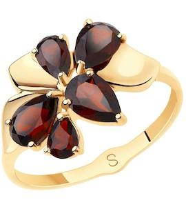 Кольцо из золота с гранатами 715612