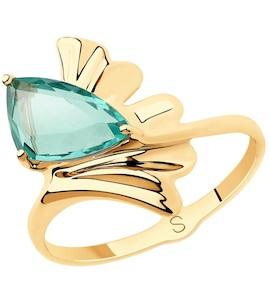Кольцо из золота с кварцем 715668