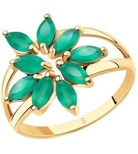 Кольцо из золота с агатами 715688