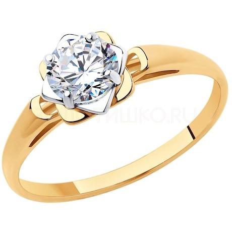 Кольцо из золота со Swarovski Zirconia 81010456