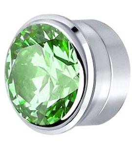 Вставка из серебра с зелёным