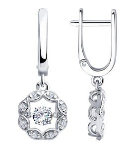 Серьги из серебра со Swarovski Zirconia 89020129