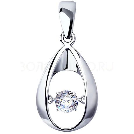 Подвеска из серебра со Swarovski Zirconia 89030043