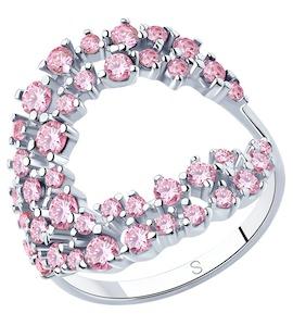 Кольцо из серебра с фианитами 94013028