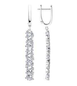 Серьги из серебра с фианитами 94023566
