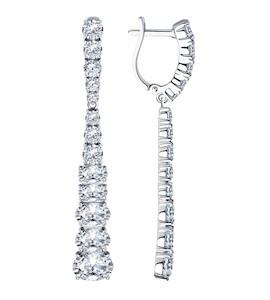 Серьги из серебра с фианитами 94023769