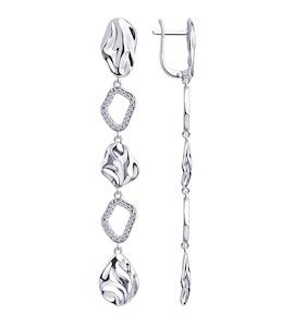 Серьги из серебра с фианитами 94023835