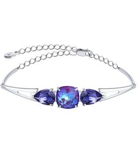 Браслет из серебра с голубыми кристаллами Swarovski 94050567
