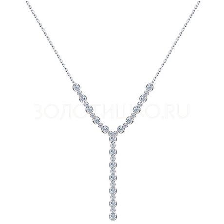 Колье из серебра с фианитами 94074572