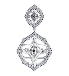 Подвеска из серебра с фианитами 95030202