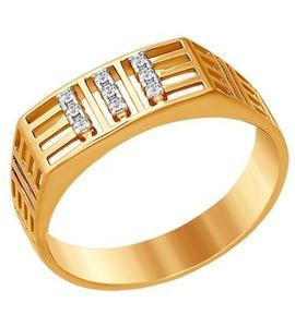 Печатка из красного золота 015516