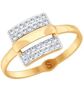 Кольцо из золота с фианитами 018048