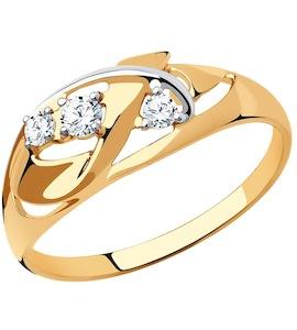 Кольцо из золота с фианитами 018566