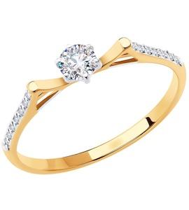 Кольцо из золота с фианитами 018647