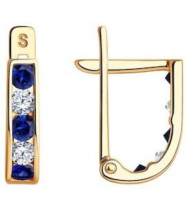 Серьги из золота с фианитами 021865-4