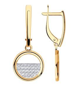 Серьги из золота с фианитами 028421