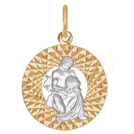 Подвеска из комбинированного золота с алмазной гранью 031387-9
