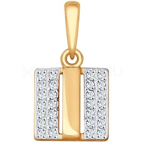 Подвеска из золота с фианитами 035517