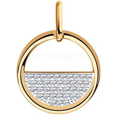 Подвеска из золота с фианитами 035732