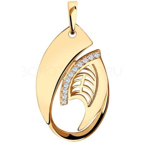 Подвеска из золота с фианитами 035912