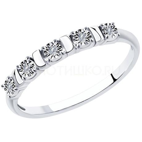 Кольцо из белого золота с бриллиантами 1011924