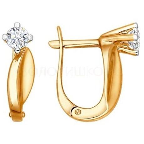 Серьги из золота с бриллиантами 1020798