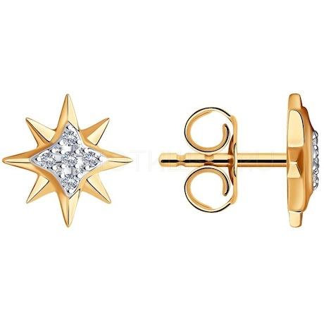 Серьги из золота с бриллиантами 1021498-5