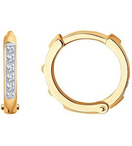 Серьги из золота с бриллиантами 1021543