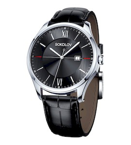 Мужские серебряные часы 154.30.00.000.02.01.3