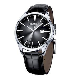 Мужские серебряные часы 154.30.00.000.03.01.3