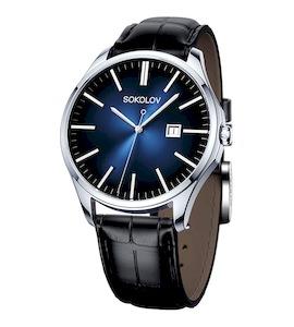 Мужские серебряные часы 154.30.00.000.04.01.3