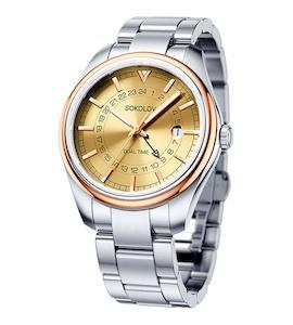 Мужские часы из золота и стали 157.01.71.000.02.01.3