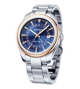 Мужские часы из золота и стали 157.01.71.000.04.01.3