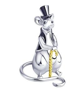 Сувенир «Крыса» из серебра 2305080017