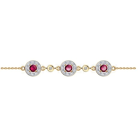 Браслет из золота с бриллиантами и рубинами 4050019