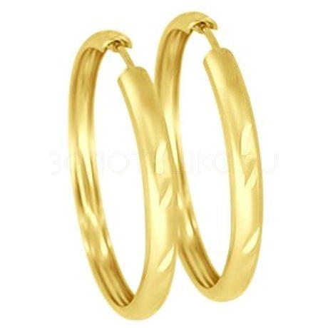 Серьги из желтого золота с алмазной гранью 51140042