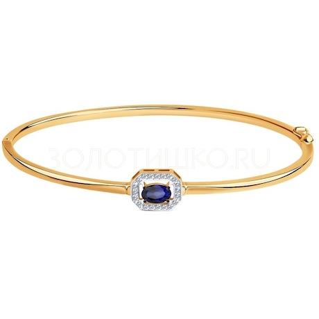 Браслет из золота с бриллиантами и корундом 6052004
