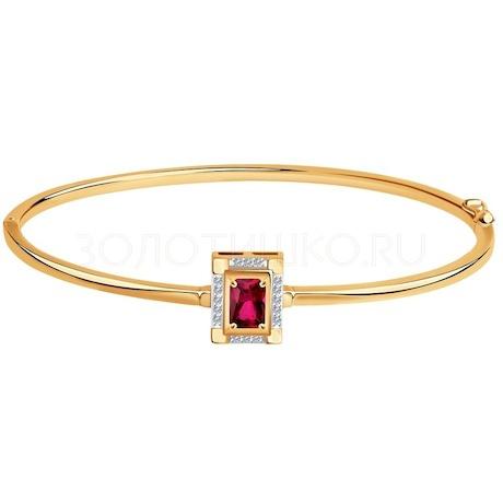 Браслет из золота с бриллиантами и корундом 6058003