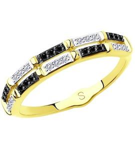 Кольцо из желтого золота с бриллиантами 7010045-2