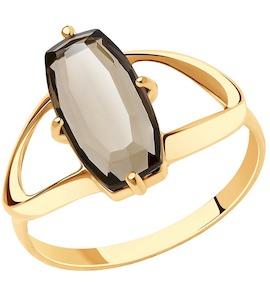 Кольцо из золота с раухтопазом 715802