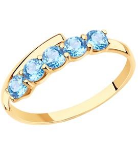 Кольцо из золота с топазами 715937
