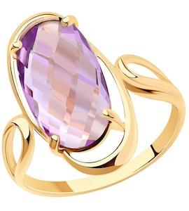 Кольцо из золота с аметистом 716022
