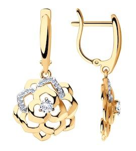 Серьги из золота с фианитами 8-020022