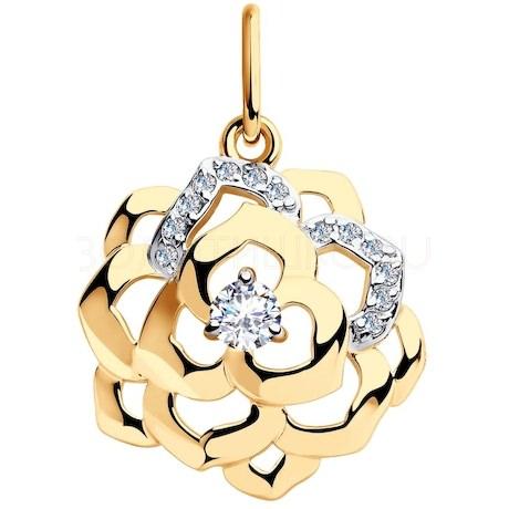 Подвеска из золота с фианитами 8-030015