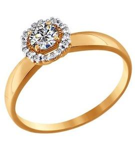 Помолвочное кольцо из золота со Swarovski Zirconia 81010153
