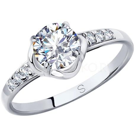 Кольцо из серебра со Swarovski Zirconia 89010117